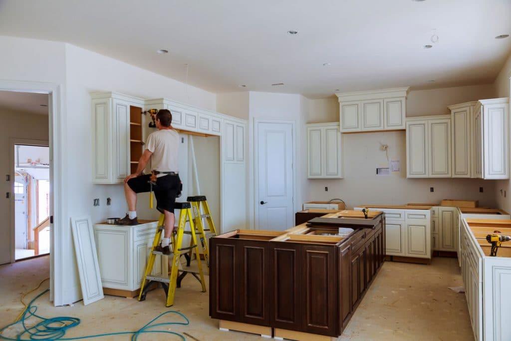 kitchen cabinet refinishing project