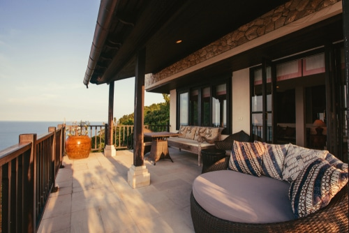 outdoor living with a view