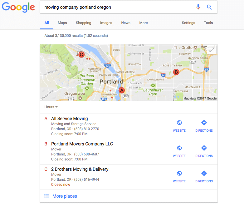 google maps listing management